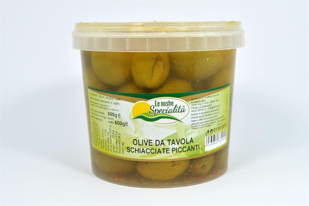 Olive da tavola schiacciate piccanti azienda agricola biologica conserve alimentari prodotti - Tipi di olive da tavola ...