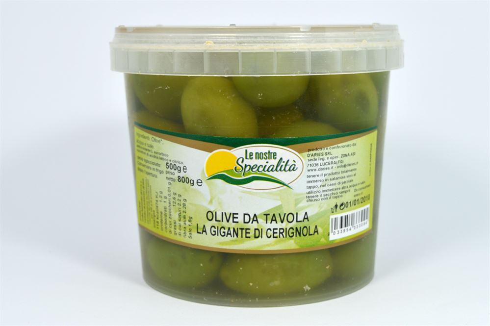 Azienda agricola biologica conserve alimentari prodotti dalla capitanata terra di puglia - Tipi di olive da tavola ...